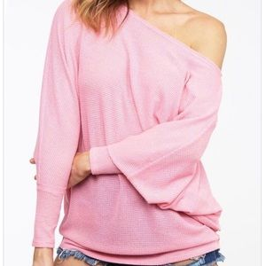 Loose fit textured top made in the USA